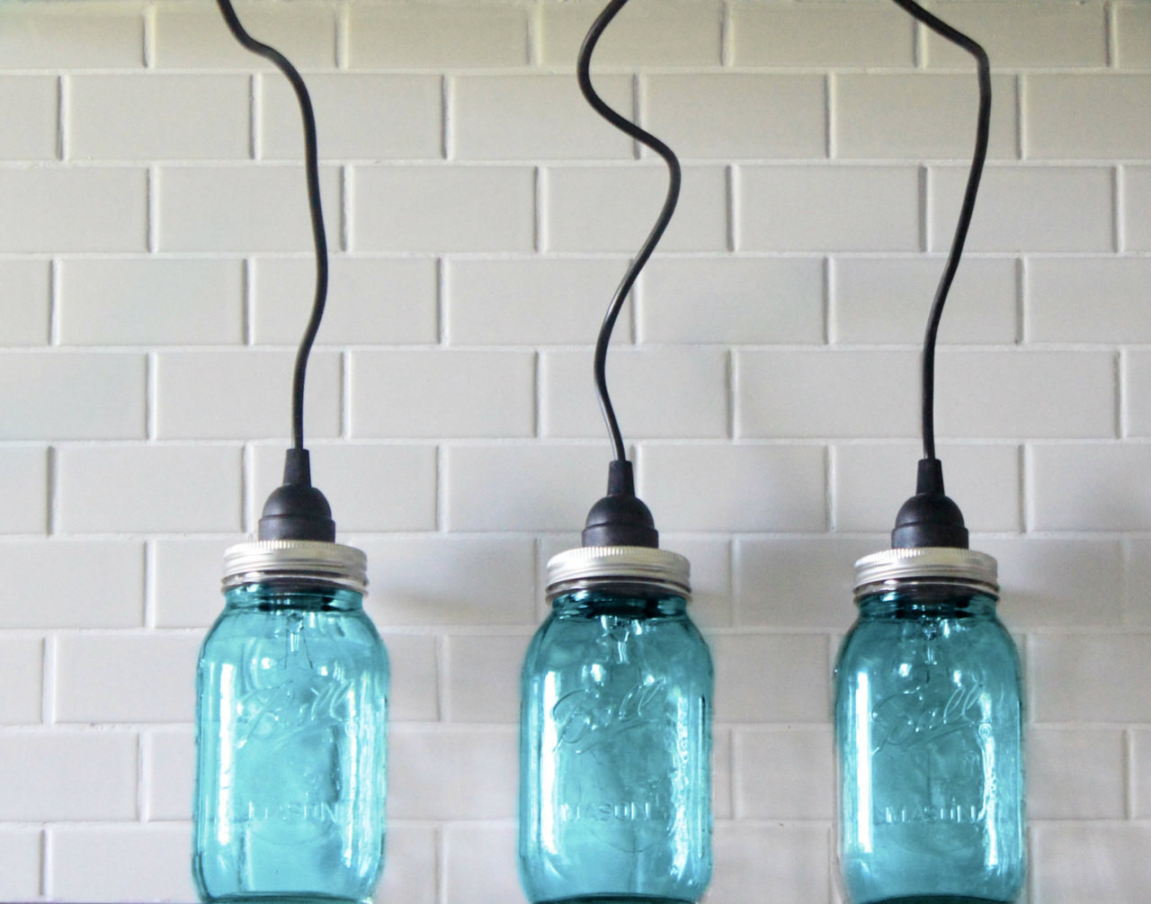 Mason Jar Lighting Set Of 3 Hanging Large Blue Mason Jar Pendant Lights Handmade Rustic Country Light Fixture Pendent Lighting Kitchen Light Haddock Industrial