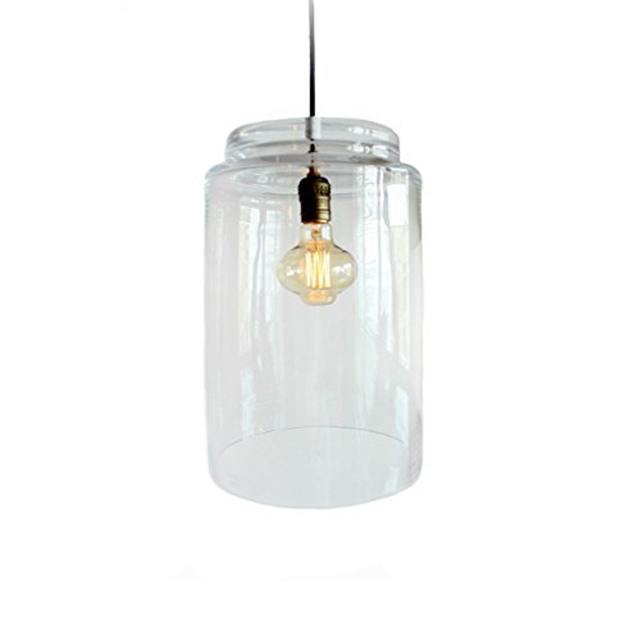Large Glass Pendant Industrial Lighting Farmhouse Kitchen Island Bar Drop Light Hanging Hurricane Pendent Lighting Bronze Edison Bulb Chandelier