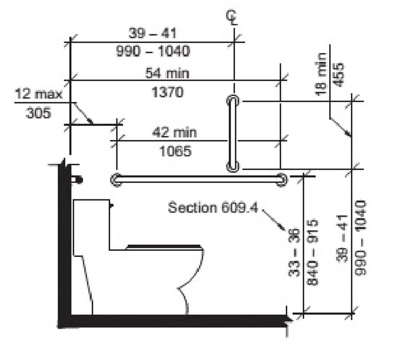 Industrial Pipe Handrail Grab Bar - ADA Restroom Compliant