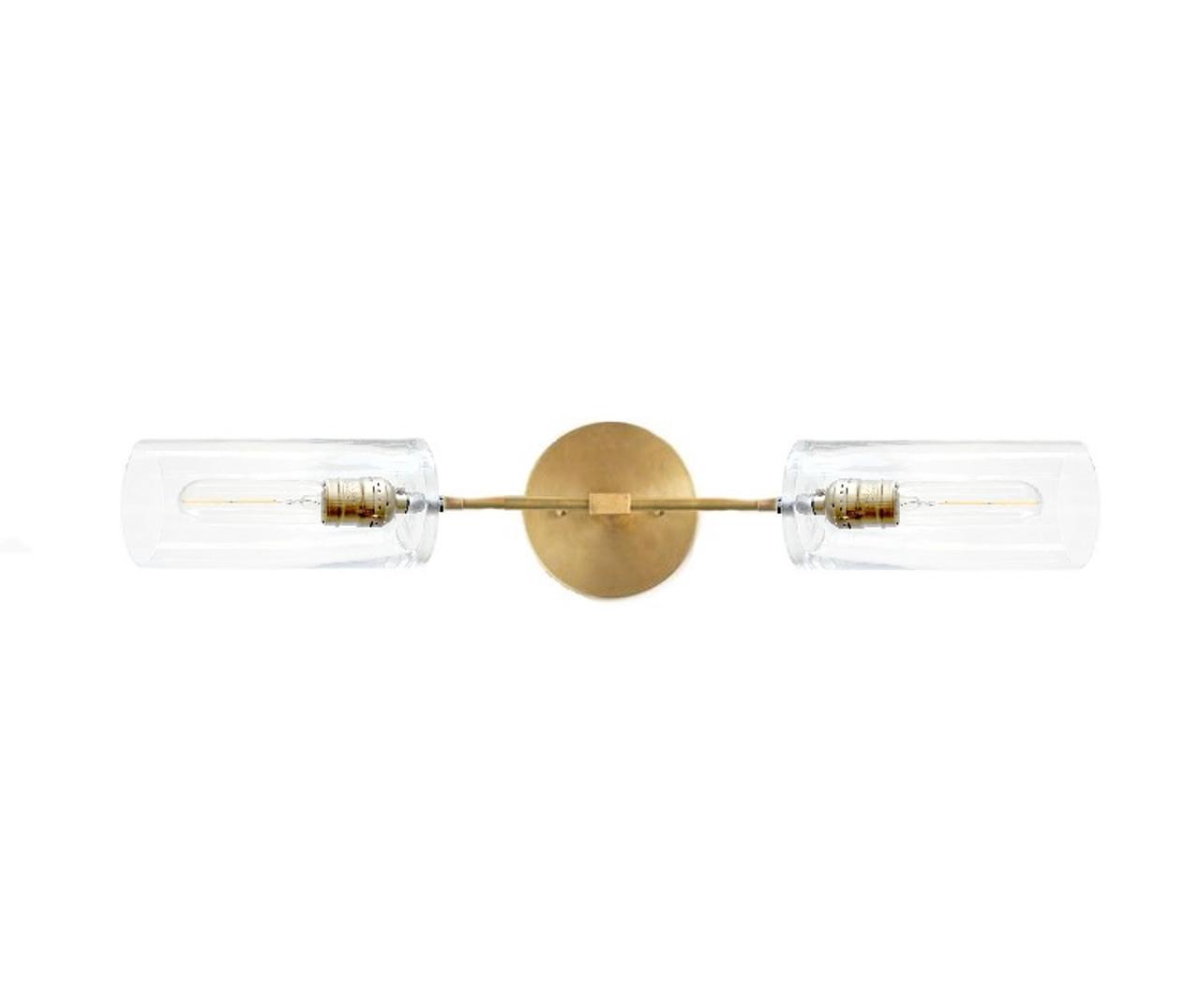 Brass Bathroom Light Fixture Modern Glass And Metal Lighting