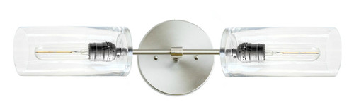 Brushed Nickel / Stainless steel color wall sconce with glass shades