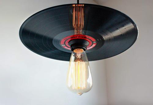 Vinyl Record Pendant Light, 50'S  retro lighting