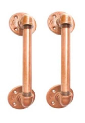 Custom for Suzzette 3 sets of COPPER finish Pipe Door Handles - Industrial Black Pipe Door pulls, Industrial Pipe door handle, Steampunk pipe drawer pull, Bar cupboard door pulls door knobs