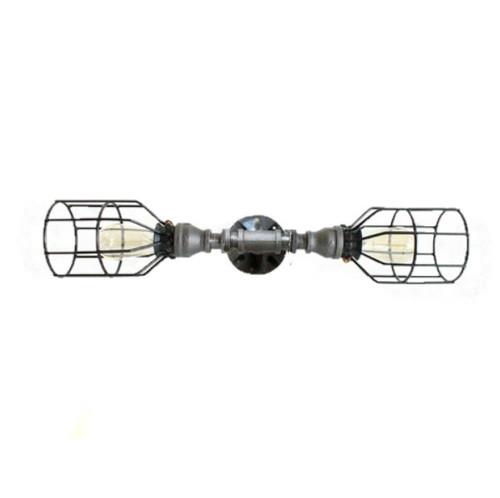 Industrial Pipe Wall Sconce - Black Straight pipe - bathroom vanity lighting