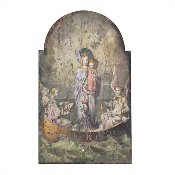 Virgin and the Child Wood Decoupage Print