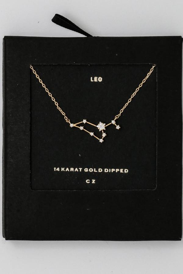 Leo Zodiac Constellation Necklace