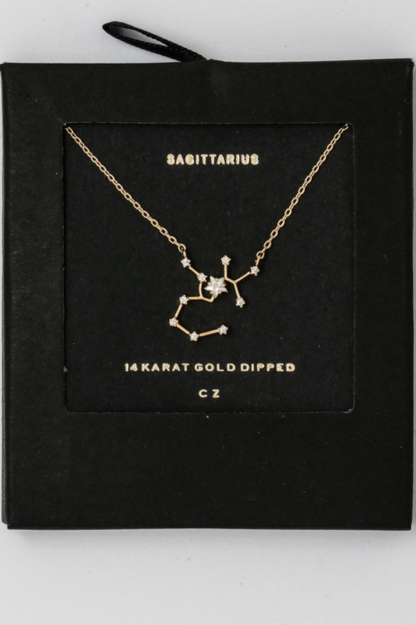 Sagittarius Zodiac Constellation Necklace