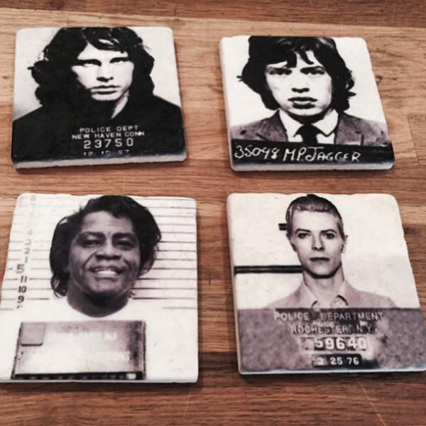 Tile Celebrity Mugshot Coasters