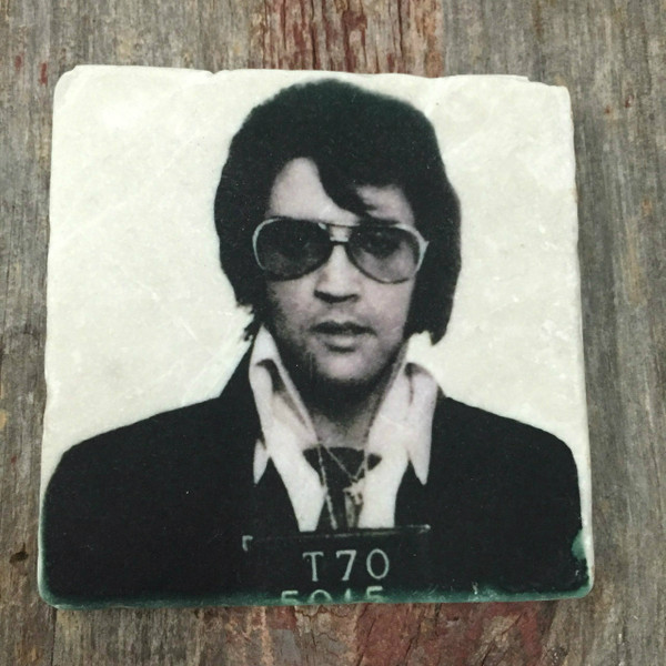 Elvis Presley Mugshot Tile Coaster