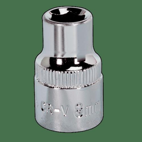"Sealey SP3808 WallDrive Socket 8mm 3/8""Sq Drive Fully Polished"