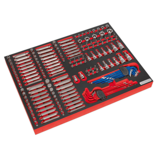 Sealey TBTP07 Tool Tray with Specialised Bits & Sockets 177pc