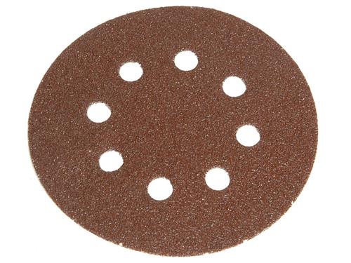 Faithfull FAIADHL150C Hook & Loop Sanding Disc DID2 Holed 150mm Coarse (Pack of 5)