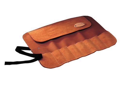 Faithfull FAILCR8 8 Pocket Leather Chisel Roll 33 x 47cm