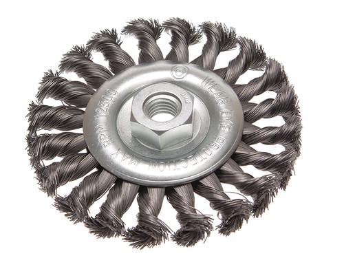 Faithfull FAIWBCT115 Circular Wire Brush 115 x 12mm M14 Bore 2 0.35mm Wire