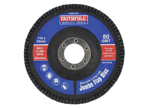 Faithfull FAIFD115F Flap Disc 115mm Fine