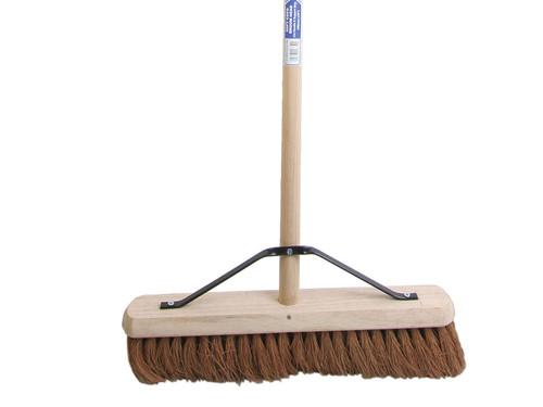 Faithfull FAIBRCOCO18H Broom Soft Coco 45cm (18in) + Handle & Stay