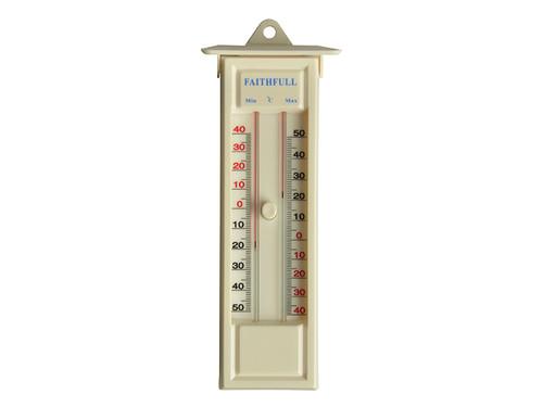 Faithfull FAITHMMBUTMF Thermometer Press Button Max-Min