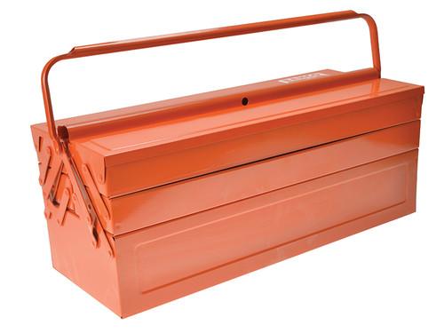 Bahco BAH3149OR Orange Metal Cantilever Tool Box 21in