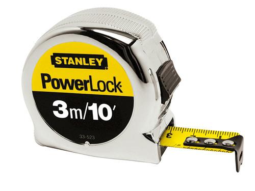 Stanley Tools STA033523 PowerLock Classic Pocket Tape 3m/10ft (Width 19mm)