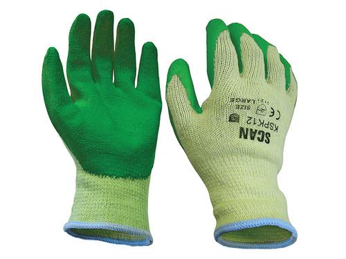Scan SCAGLOKSPKXL Knitshell Latex Palm Gloves - XL (Size 10) (Pack 12)