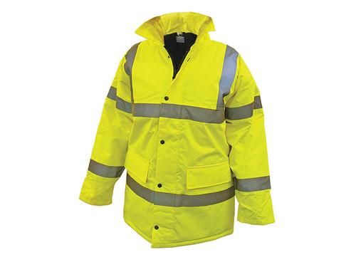 Scan SCAWWHVMJXL Hi-Vis Yellow Motorway Jacket - XL (48in)
