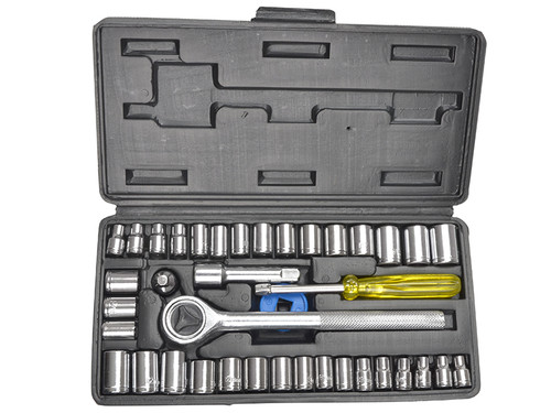 BlueSpot Tools B/S01535 Socket Set of 40 Metric & AF 1/4in & 3/8in Drive | Toolden