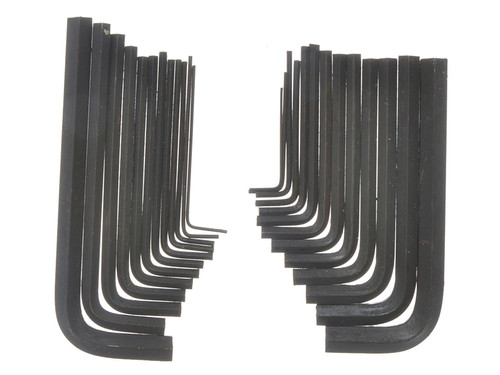 BlueSpot Tools B/S15307 Metric & Imperial Hexagon Key Pouch Set of 25   Toolden