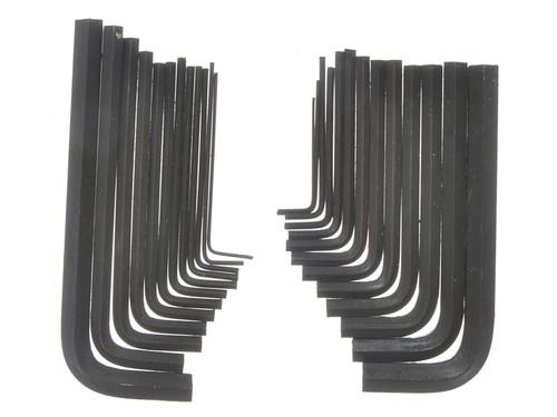 BlueSpot Tools B/S15307 Metric & Imperial Hexagon Key Pouch Set of 25 | Toolden