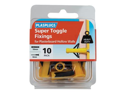 Plasplugs PLAHWST010 Super Toggle Fixings Pack of 10   Toolden