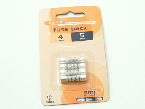 SMJ SMJFU05AC 5A Fuses (Pack 4) | Toolden