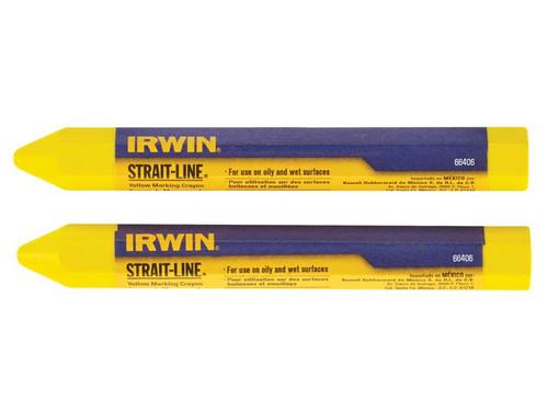 IRWIN STRAIT-LINE STL666062 Crayon Yellow (Card of 2)
