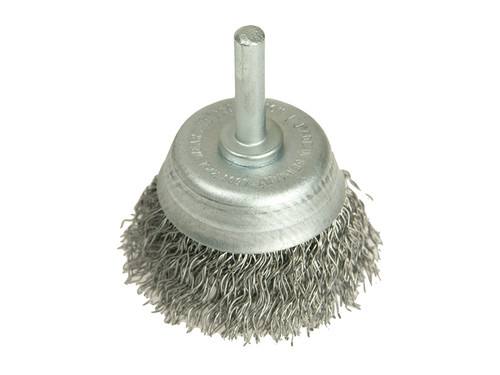 Lessmann LES43012307 DIY Cup Brush with Shank 50mm x 0.35 Steel Wire   Toolden