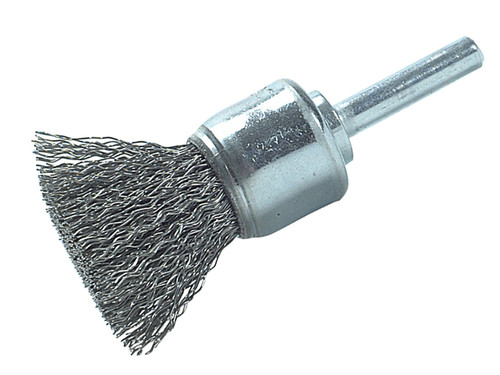 Lessmann LES45516107 DIY End Brush with Shank 25mm 0.30 Steel Wire   Toolden