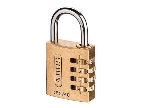 ABUS Mechanical ABU16540C 165/40 40mm Solid Brass Body Combination Padlock (4-Digit) Carded | Toolden
