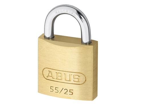 ABUS Mechanical ABU5525C 55/25mm Brass Padlock Carded | Toolden