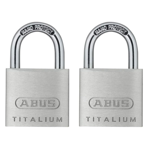 ABUS Mechanical ABU64TI30TC 64TI/30mm TITALIUM Padlock Carded Twin Pack  | Toolden