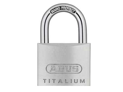 ABUS Mechanical ABU64TI35C 64TI/35mm TITALIUM Padlock Carded