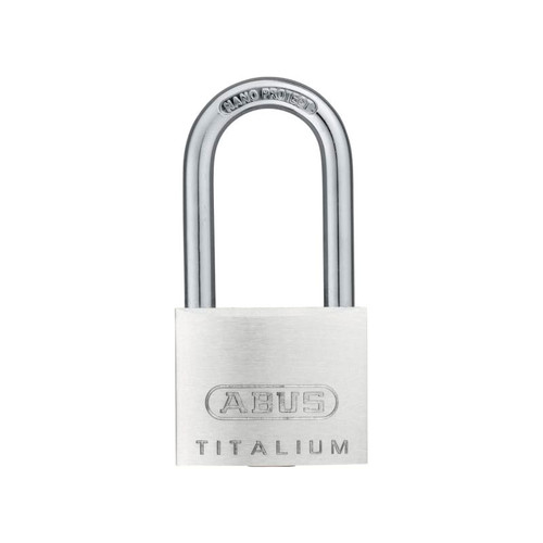 ABUS Mechanical ABU64TI4040C 64TI/40mm TITALIUM Padlock 40mm Long Shackle Carded | Toolden