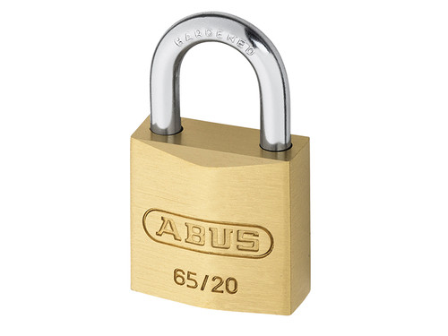 ABUS Mechanical ABU6520C 65/20mm Brass Padlock Carded | Toolden