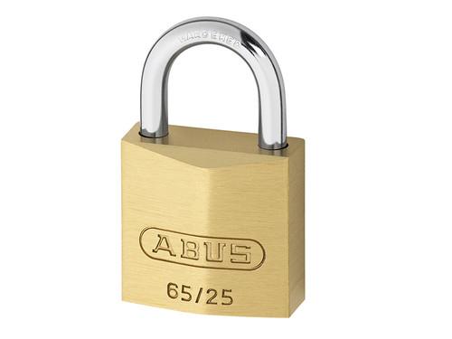 ABUS Mechanical ABU6525C 65/25mm Brass Padlock Carded | Toolden