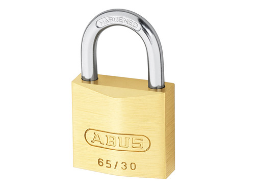 ABUS Mechanical ABU6530C 65/30mm Brass Padlock Carded | Toolden