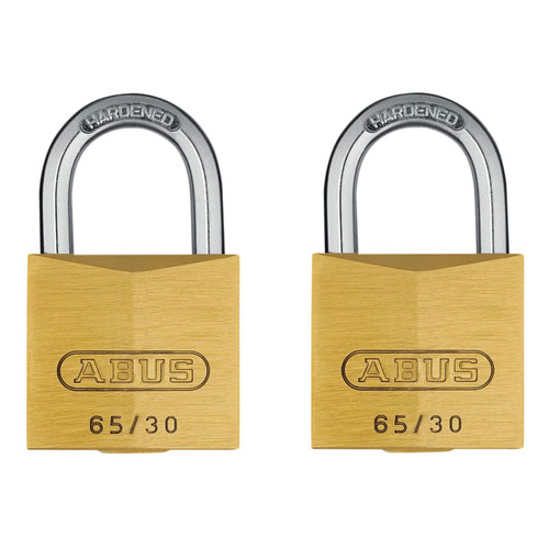 ABUS Mechanical ABU6530TC 65/30mm Brass Padlock Twin Carded | Toolden
