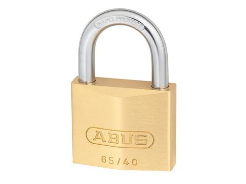 ABUS Mechanical ABU6540C 65/40mm Brass Padlock Carded | Toolden