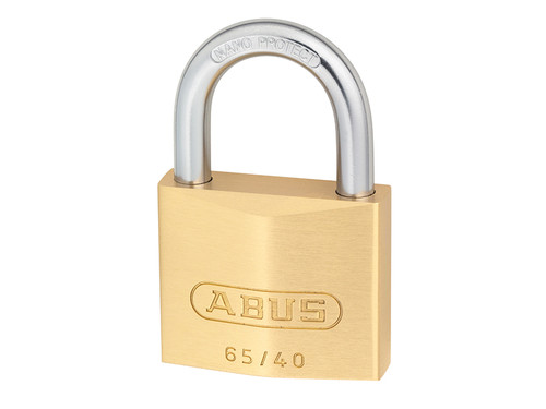 ABUS Mechanical ABU6540C 65/40mm Brass Padlock Carded | Toolden