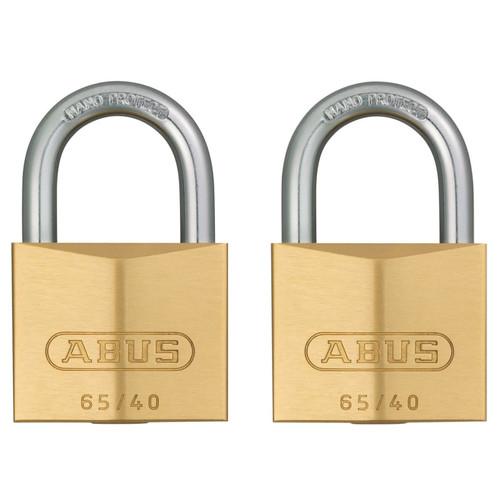 ABUS Mechanical ABU6540TC 65/40mm Brass Padlock Twin Carded  | Toolden