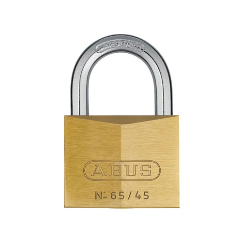 ABUS Mechanical ABU6545C 65/45mm Brass Padlock Carded | Toolden