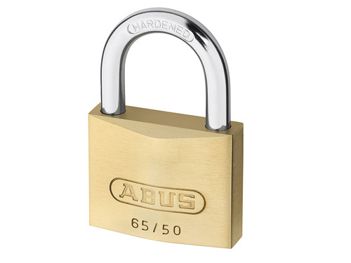 ABUS Mechanical ABU6550TC 65/50mm Brass Padlock Twin Pack Carded | Toolden
