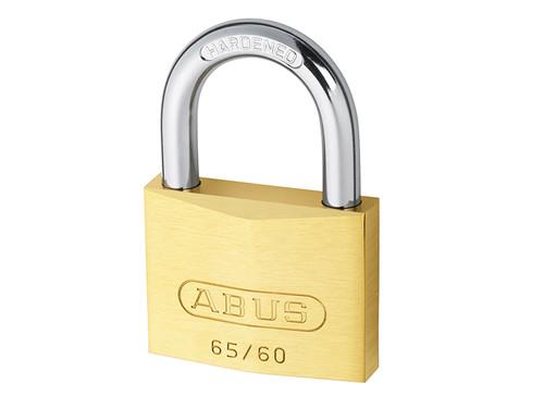 ABUS Mechanical ABU6560C 65/60mm Brass Padlock Carded | Toolden