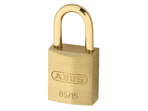 ABUS Mechanical ABU65MB15C 65MB/15mm Solid Brass Padlock Carded | Toolden
