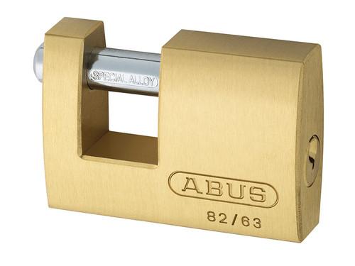 ABUS Mechanical ABU8263C 82/63mm Monoblock Brass Shutter Padlock Carded   Toolden